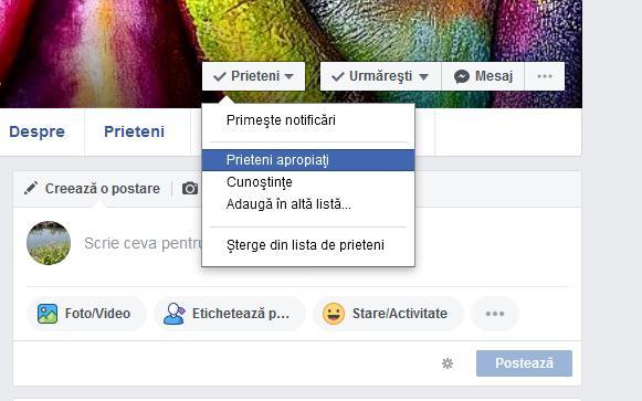 Activare notificări Facebook de la prieteni