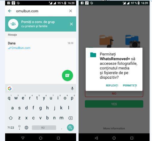 Citire mesaje șterse WhatsApp pe Android