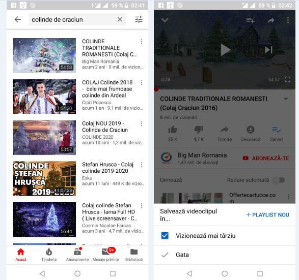 Creare playlist Youtube pe telefon