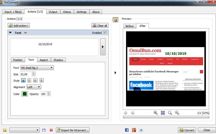 Program de pus data pe poze pentru PC