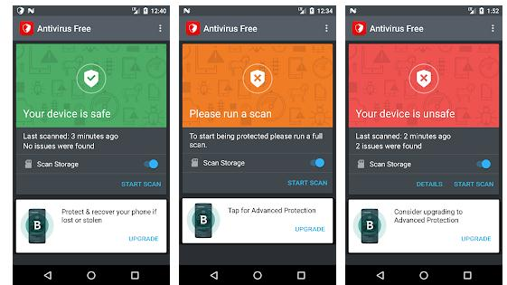 Scanează telefonul de anti-malware