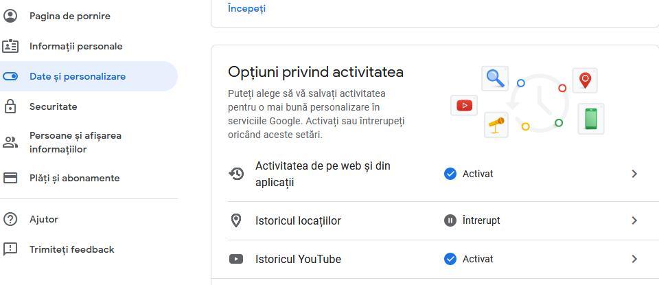 Șterge căutările anterioare de pe Google