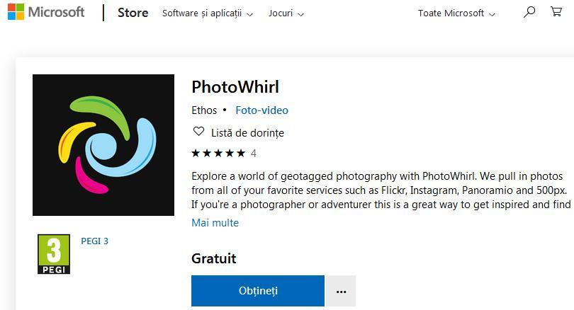 Descarcă PhotoWhirl și caută poze pe Instagram sau Flickr