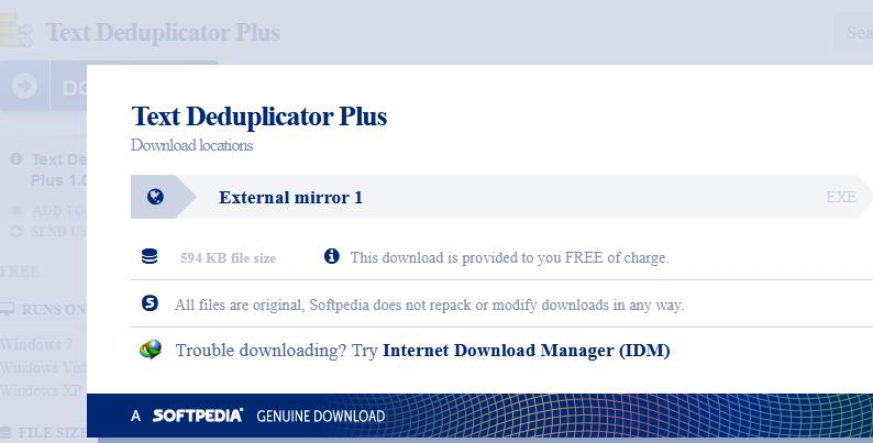 Download Text Deduplicator Plus