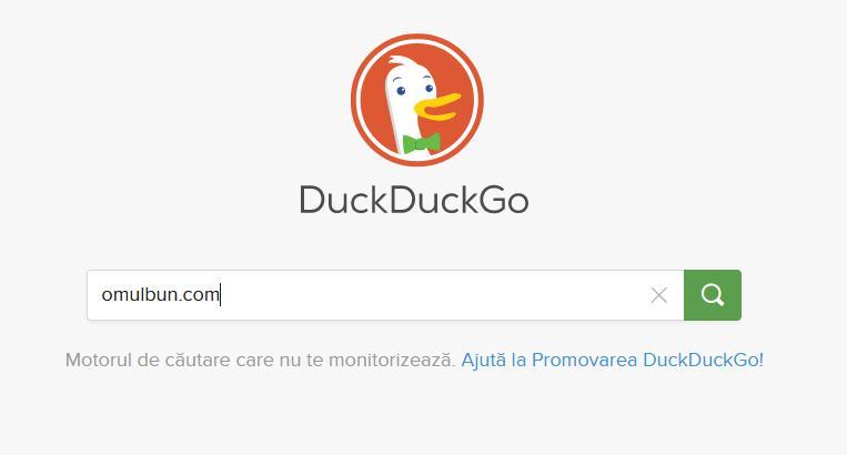 Folosește DuckDuckGo