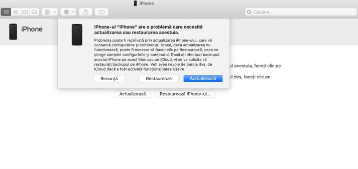 Recovery Mode cu iTunes
