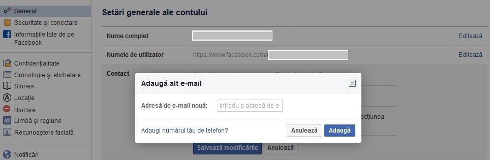 cum schimbi adresa de email la facebook de pe calculator