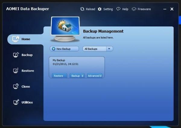 Program pentru backup în Windows 10, 7, 8, XP sau Vista