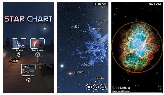 Aplicație pentru stele Star Chart
