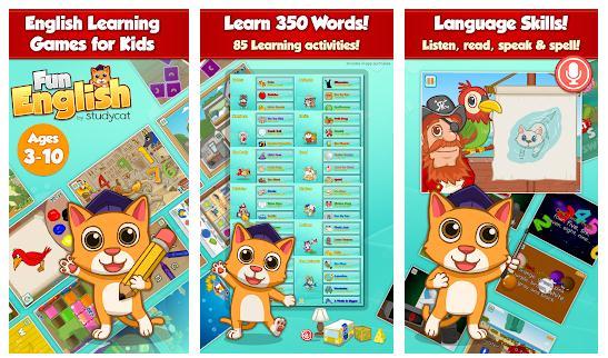 Aplicații de învățat engleză pentru copii