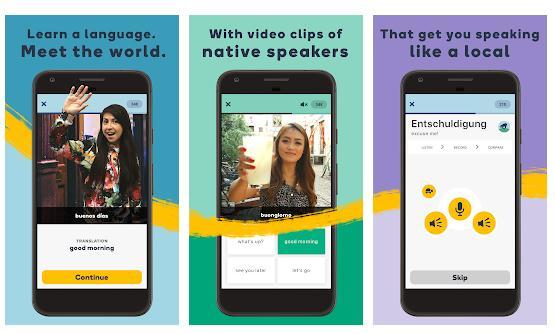 Aplicații pentru învățat engleză Memrise