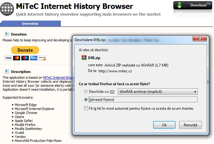 Download MiTeC Internet History Browser