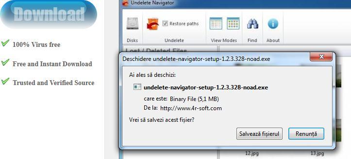 Program recuperare date HDD Undelete Navigator