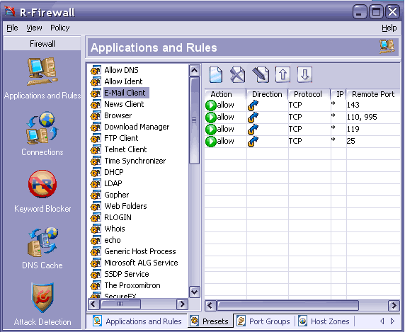 Programe firewall pentru router sau Windows R-Firewall