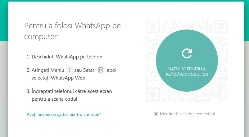 conectare WhatsApp la calculator