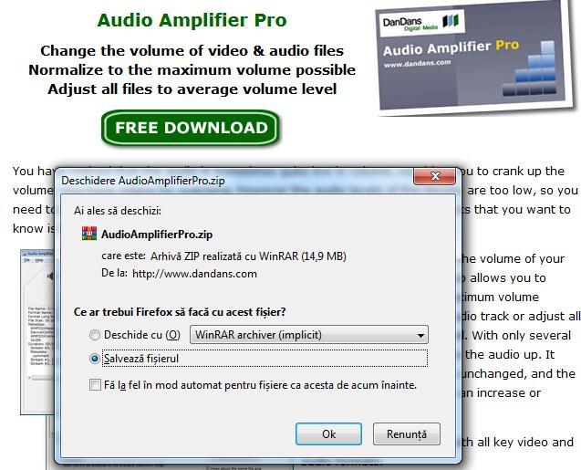 reglare volum Audio Amplifier Free