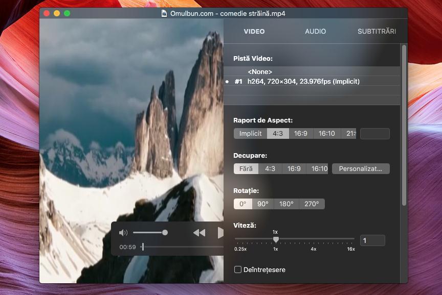 Cel mai bun player video pentru Mac