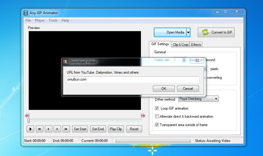 Creează GIF din video online sau din PC