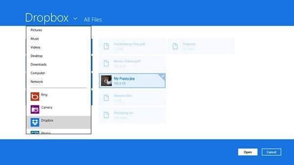 Dropbox pentru Windows 8 direct din Windows Store