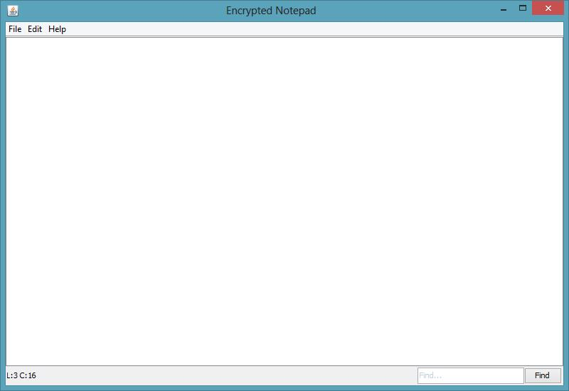 Encrypted Notepad