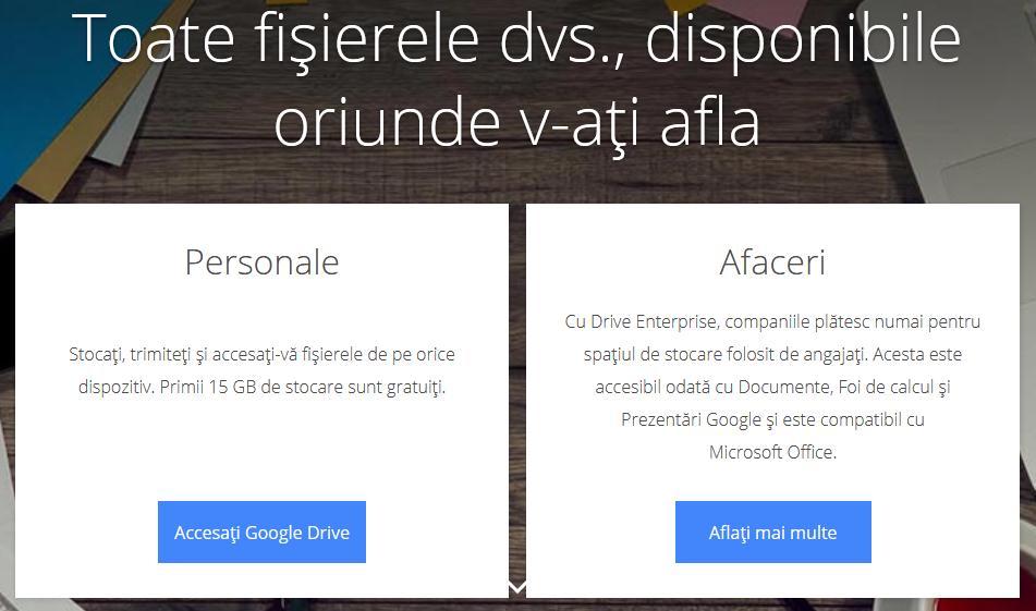 Google drive fișiere mari online gratuit