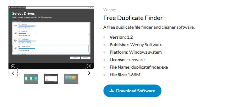Program de găsit poze identice Free Duplicate Finder