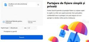 Transfer fișiere mari online gratuit (email sau PC)