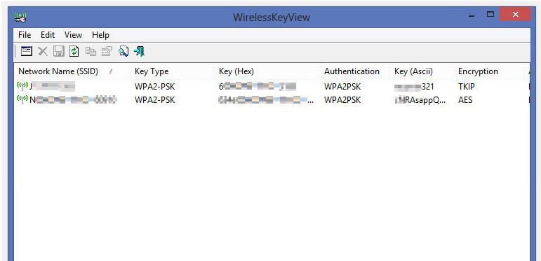 WirelessKeyView (Windows)