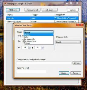 Program de schimbat fundalul Windows 10