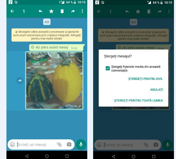 Ștergere poze WhatsApp pe Android