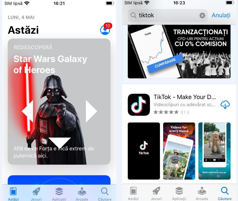 Descarcă aplicația TikTok pe iPhone