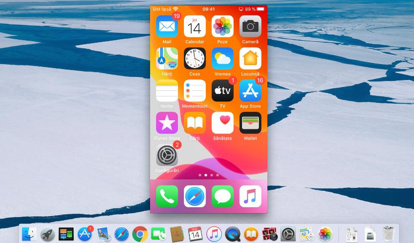 Oglindire ecran iPhone pe MacBook sau Mac
