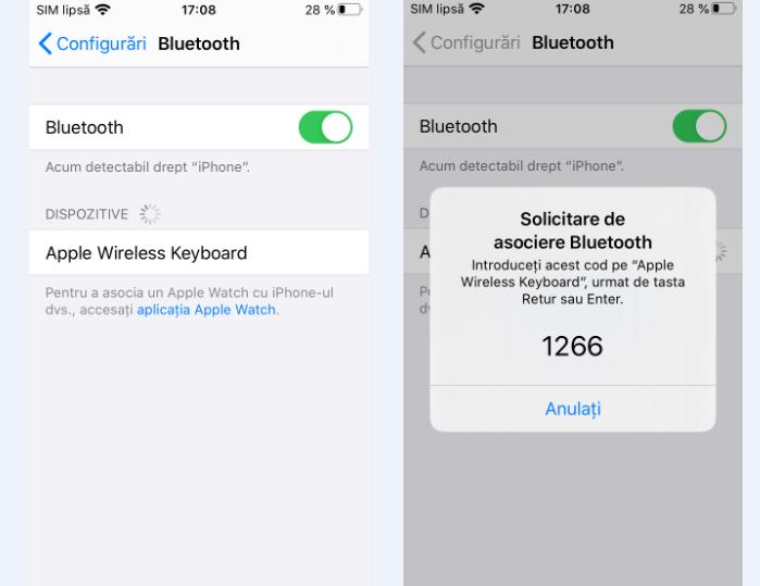 Conectare tastatură la telefon iPhone