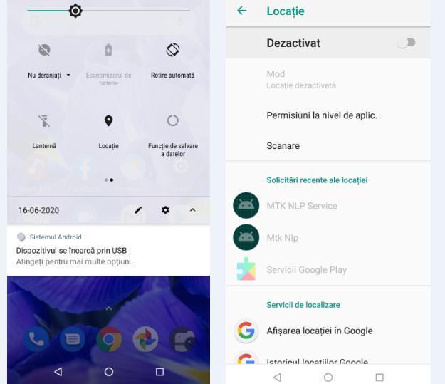 Dezactivare locație Android