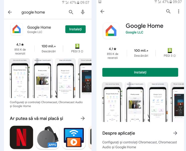 Instalare Google Home pe Android