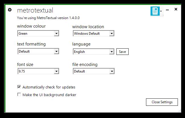 MetroTextual, editor de text pentru Windows 8