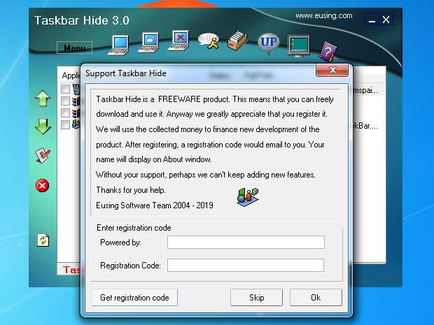 Program cu opțiuni suplimentare pentru bara de activități Windows