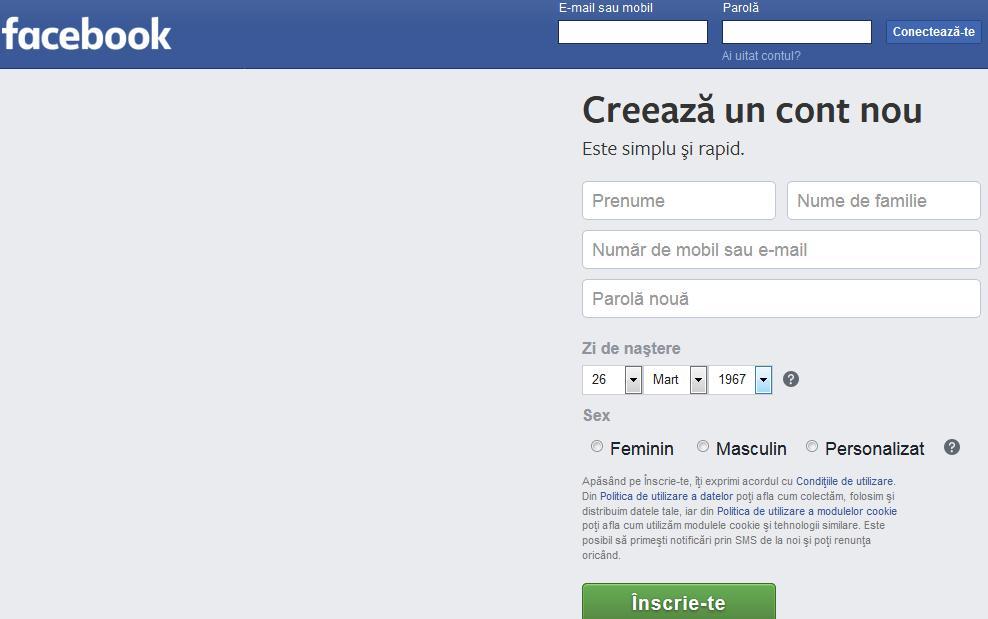 Recuperare cont facebook