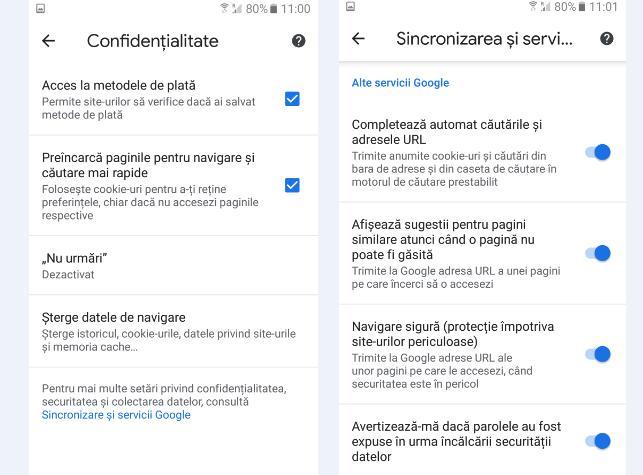 Blocare site-uri nedorite în Chrome pe Android