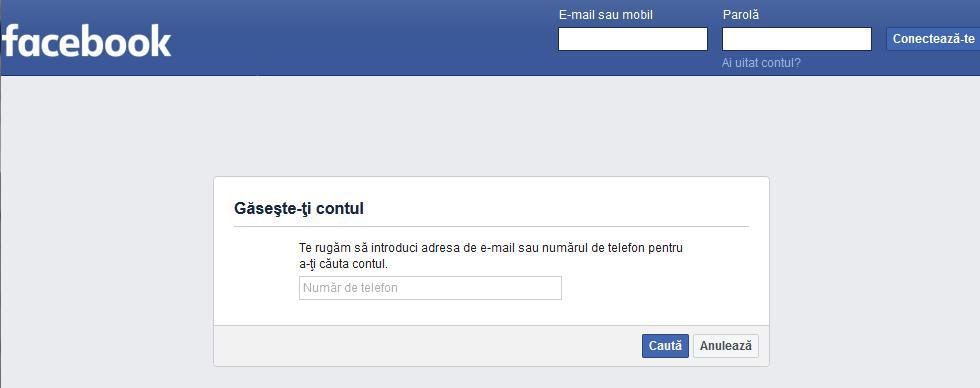 cum recuperezi un e-mail facebook