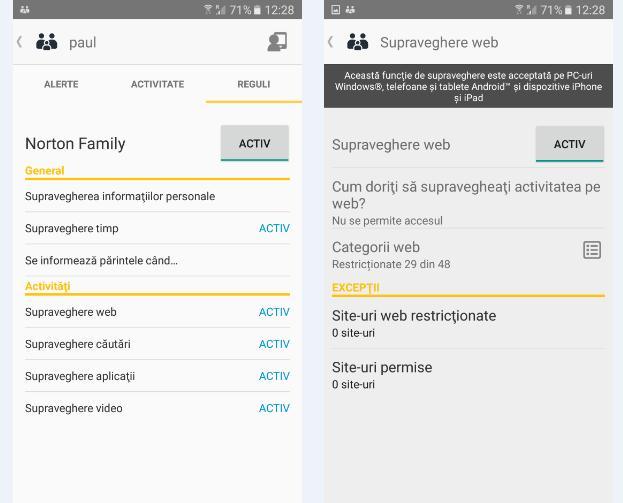 Cum blochezi un site cu Norton Family parental control