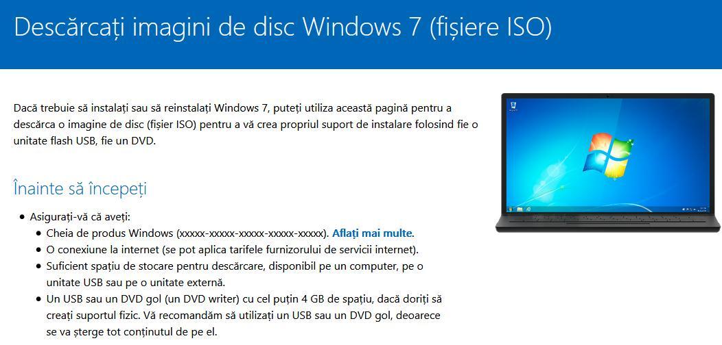 Descarcă Windows 7 imagine ISO