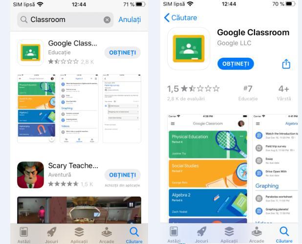 Descarcă aplicația Google Classroom pe iPhone sau iPad