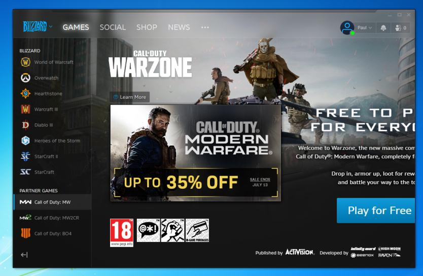 Instalare Call of Duty Warzone pe PC