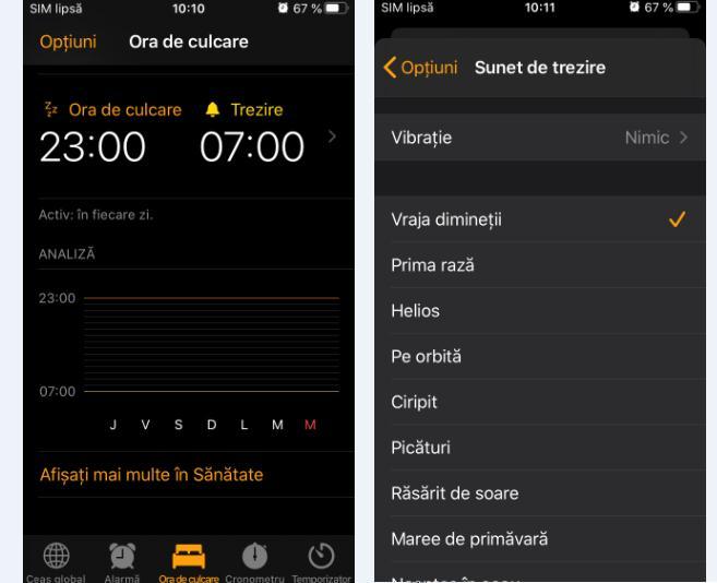 Schimbare sunet de alarmă la iPhone