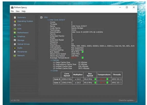 program pentru temperatura CPU