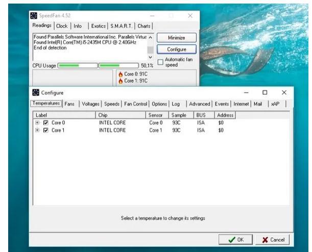 program pentru temperatura laptopului