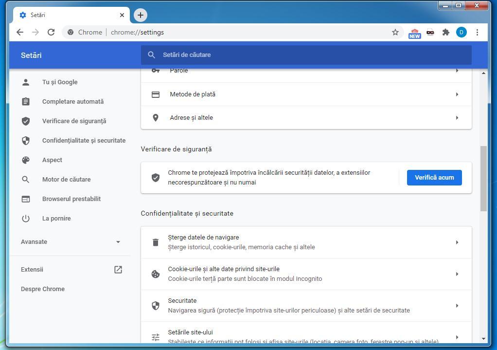 Dezactivare notificări Google Chrome