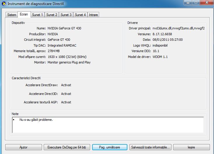 Instalare driver la placa video NVIDIA