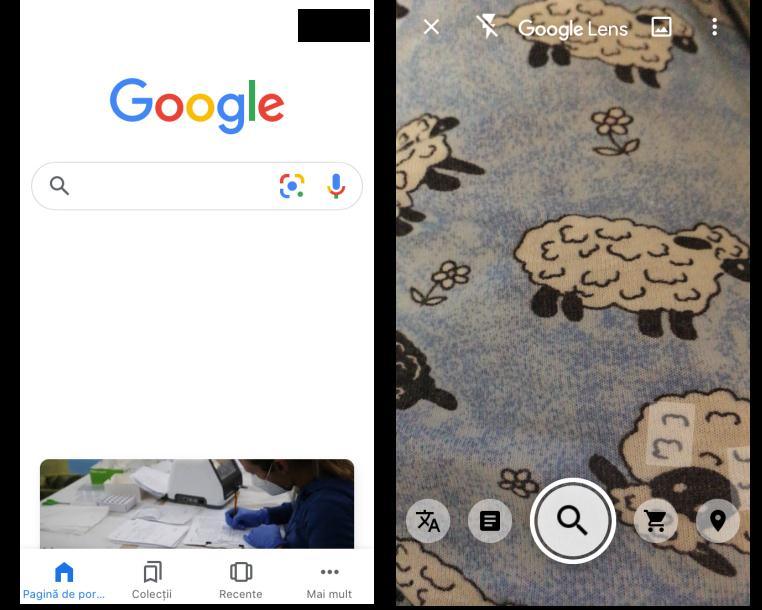 aplicatia Google Lens pe iPhone